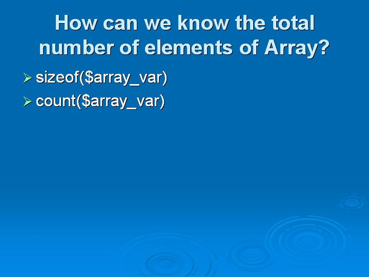 10_How can we know the total number of elements of Array