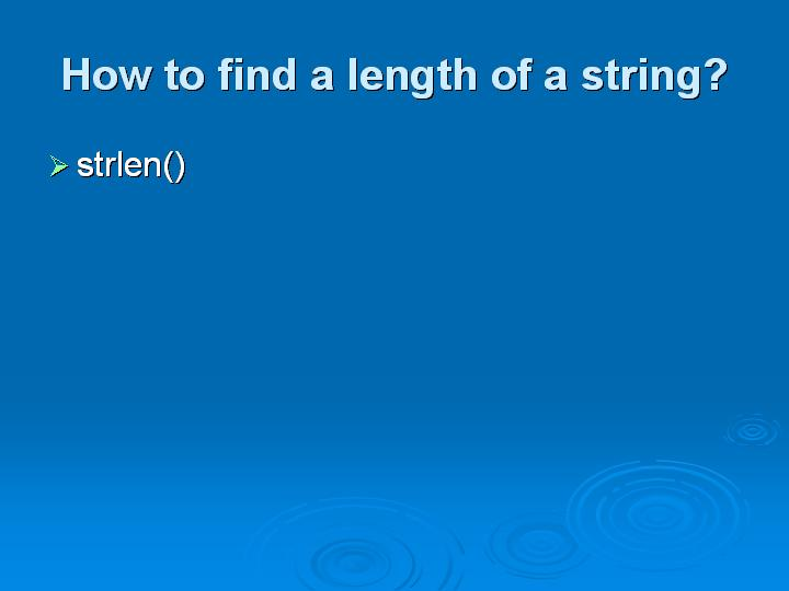19_How to find a length of a string