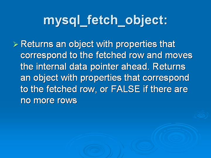 27_mysql_fetch_object