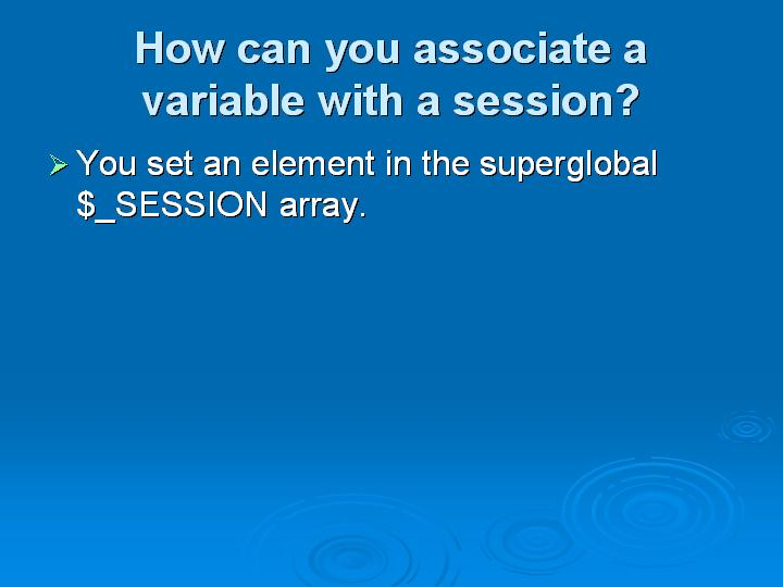 46_How can you associate a variable with a session
