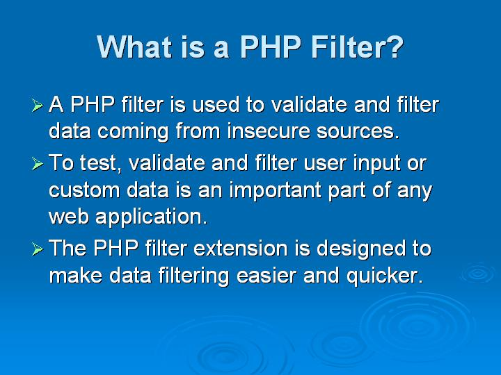 51_What is a PHP Filter