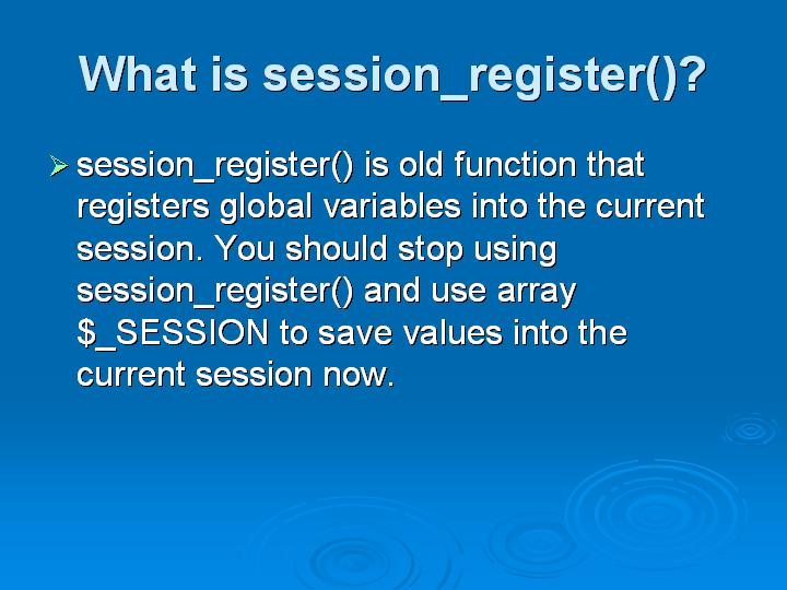 57_What is session_register()