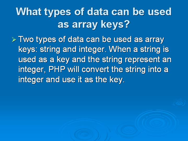 59_What types of data can be used as array keys