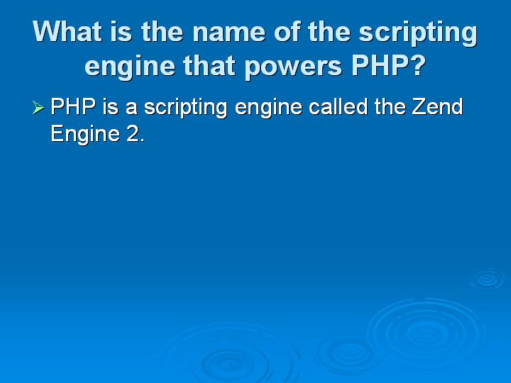 66_What is the name of the scripting engine that powers PHP