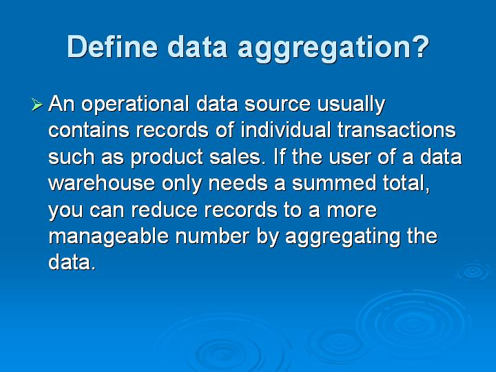 12_Define data aggregation