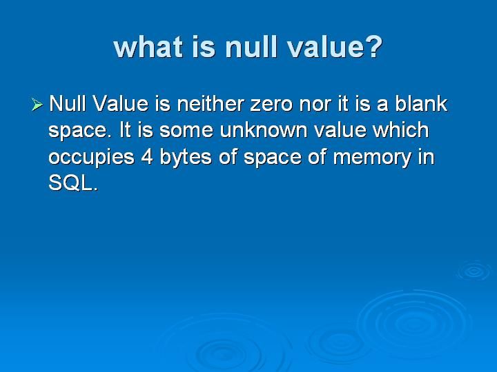 12_what is null value