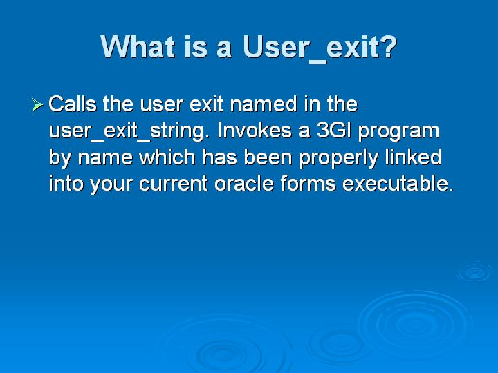 17_What is a User_exit