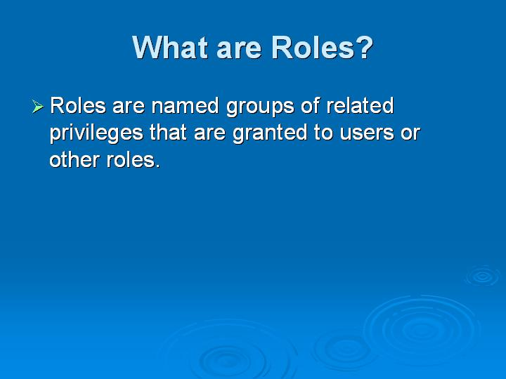 19_What are Roles
