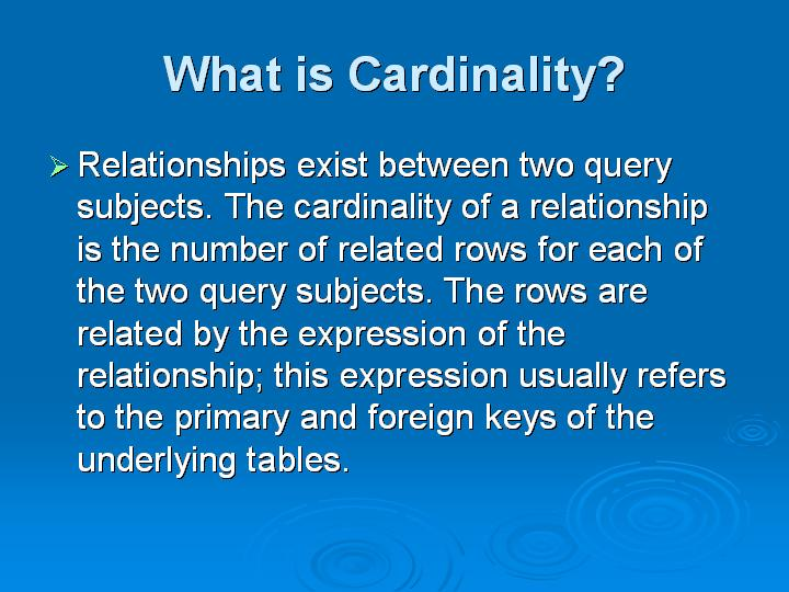 20_What is Cardinality