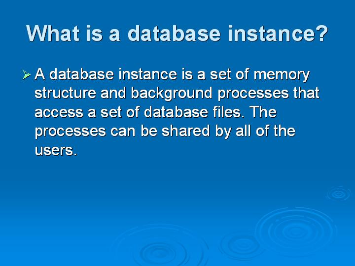 22_What is a database instance