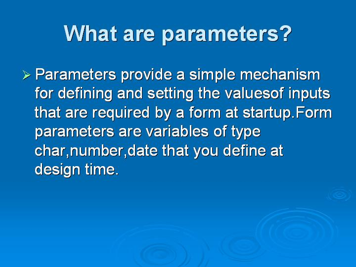 23_What are parameters