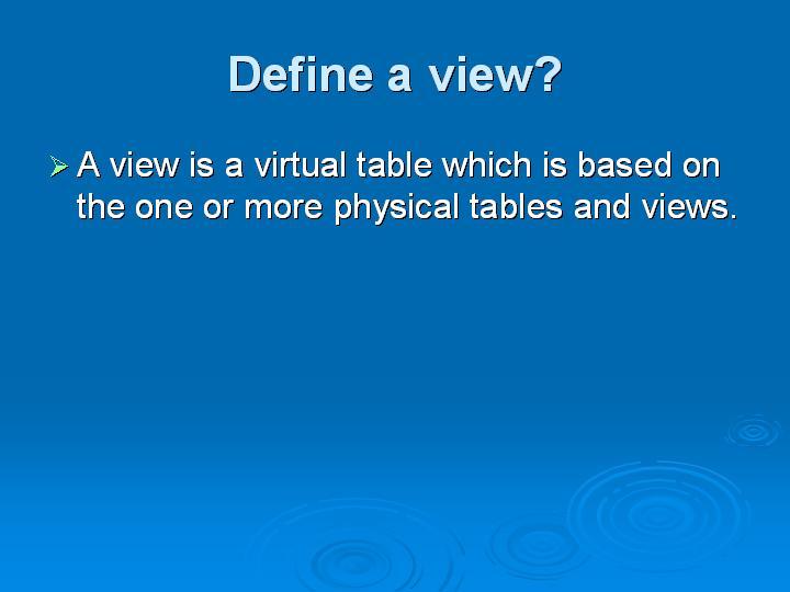27_Define a view