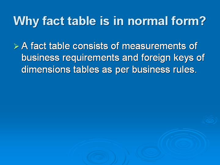 31_Why fact table is in normal form