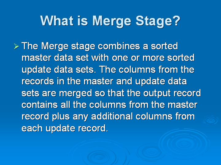 32_What is Merge Stage