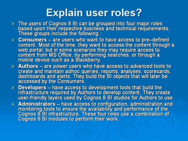 35_Explain user roles