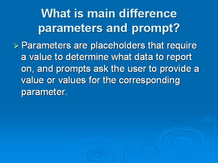 38_What is main difference parameters and prompt
