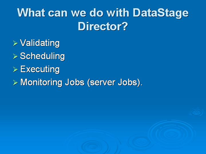 42_What can we do with DataStage Director