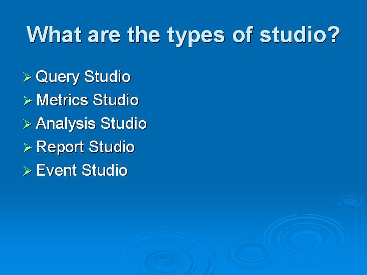 49_What are the types of studio