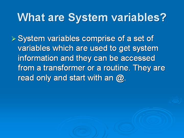 4_What are System variables