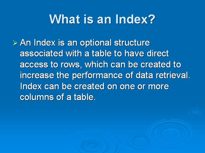 4_What is an Index