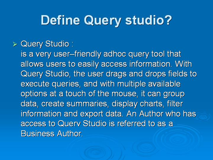 50_Define Query studio