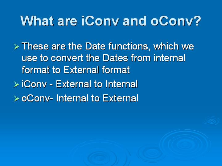 50_What are iConv and oConv