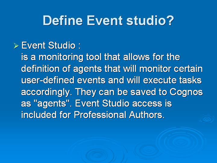 54_Define Event studio