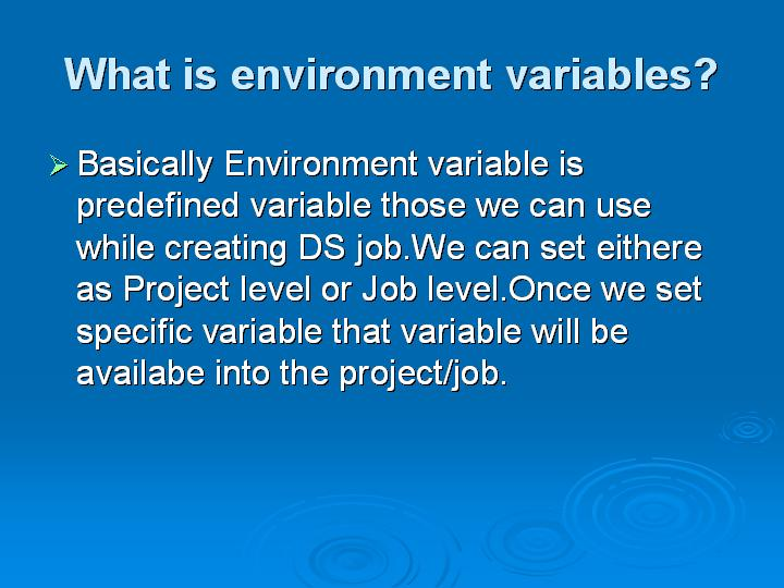 54_What is environment variables