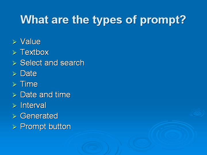 55_What are the types of prompt