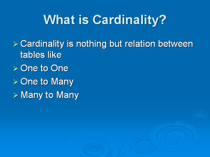 57_What is Cardinality