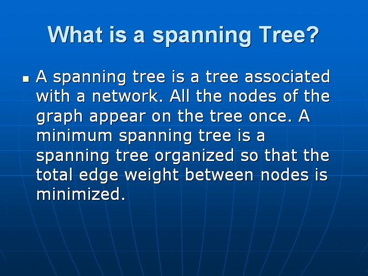 5_What is a spanning Tree