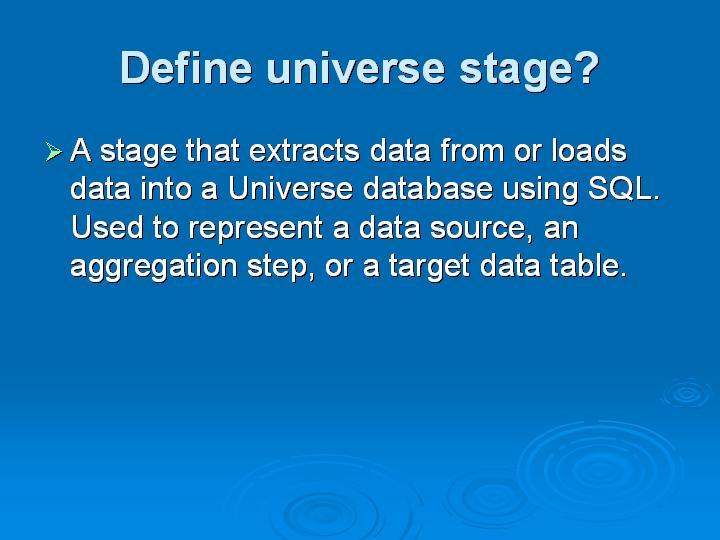 64_Define universe stage