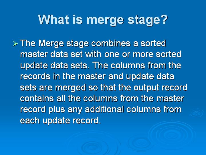 67_What is merge stage