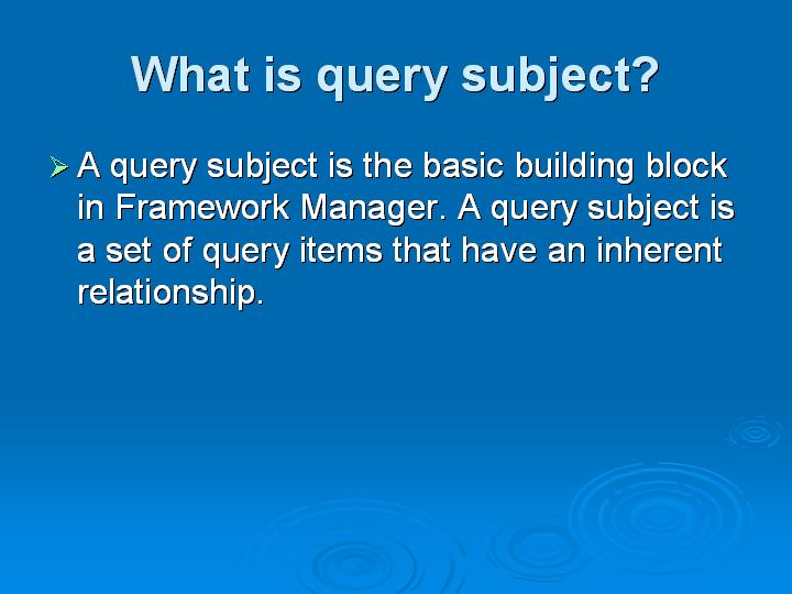 6_What is query subject