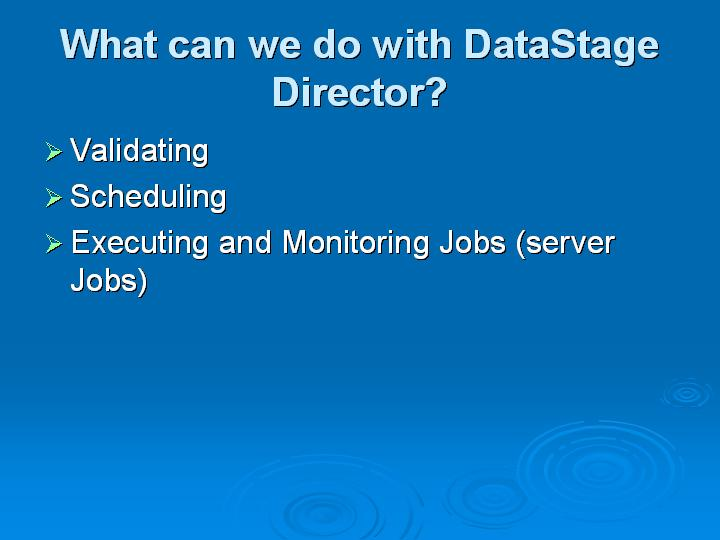 70_What can we do with DataStage Director