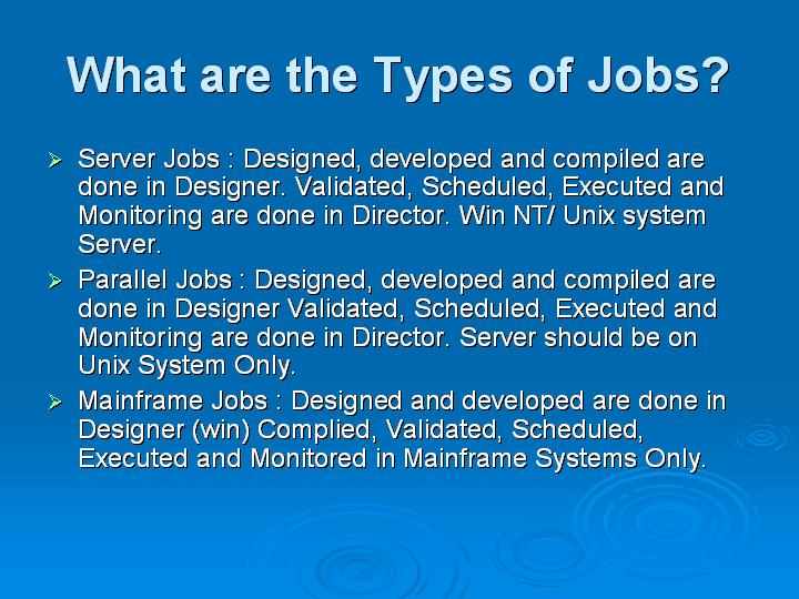 71_What are the Types of Jobs