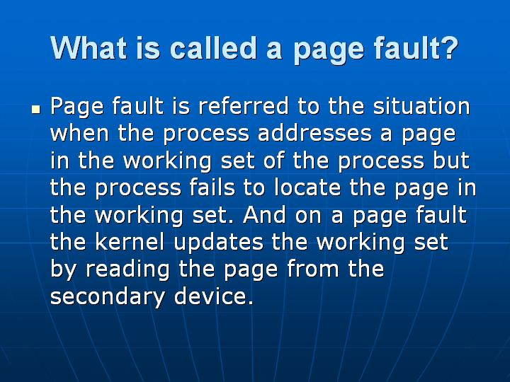 12_What is called a page fault
