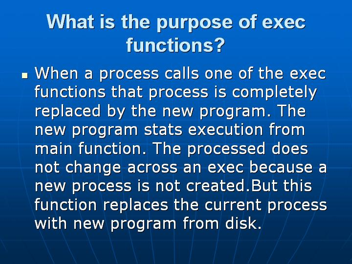 15_What is the purpose of exec functions