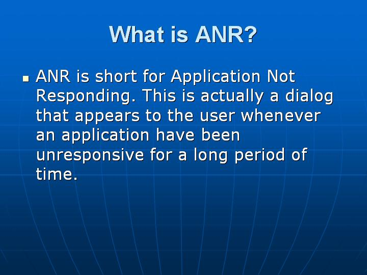 20_What is ANR
