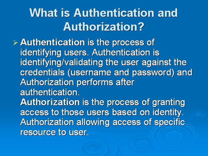 20_What is Authentication and Authorization