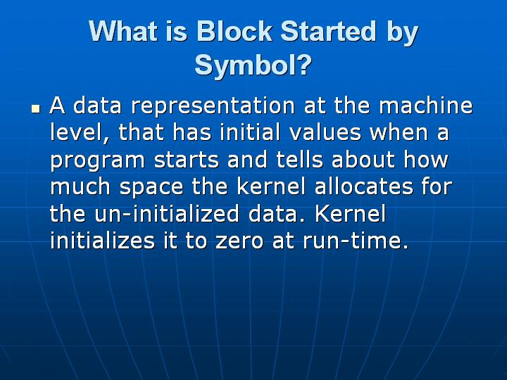 20_What is Block Started by Symbol
