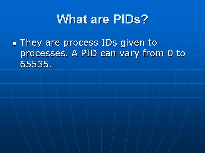 24_What are PIDs