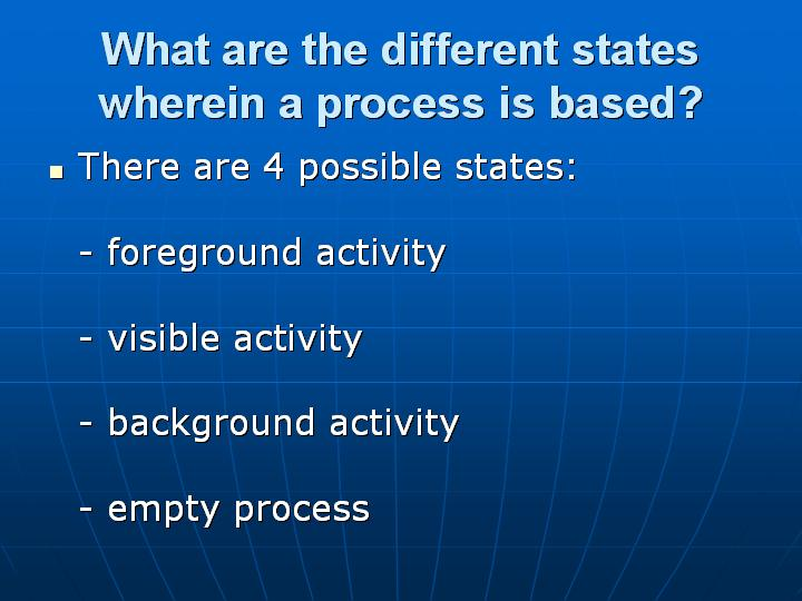 28_What are the different states wherein a process is based