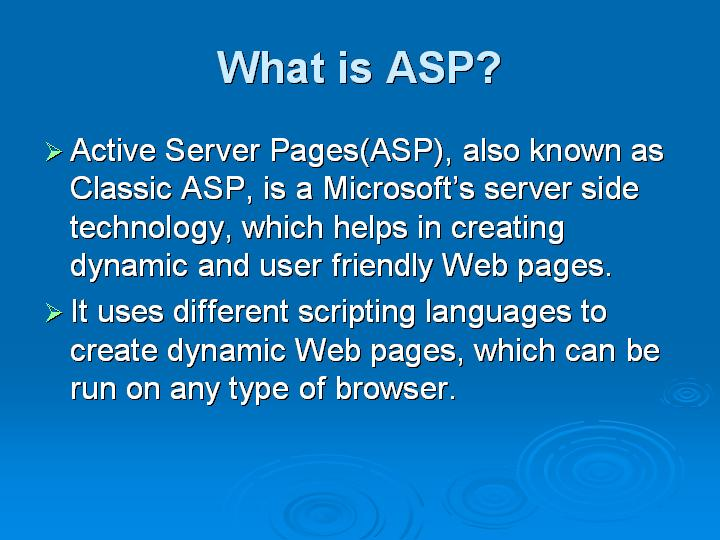 2_What is ASP