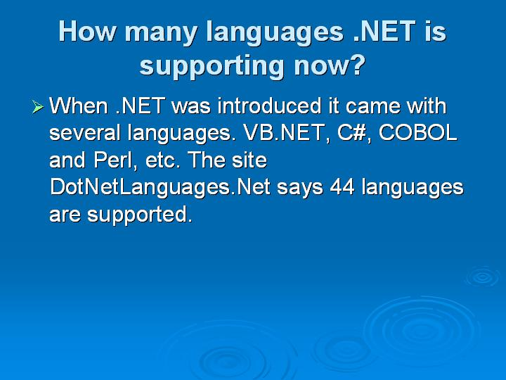 32_How many languages NET is supporting now