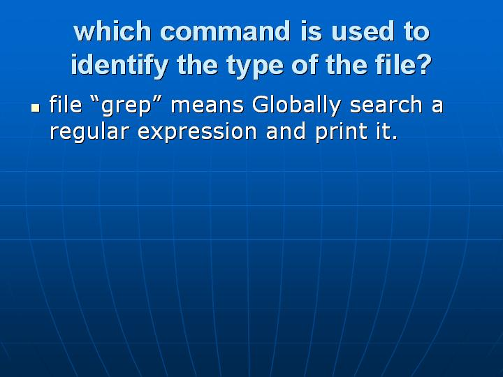 34_which command is used to identify the type of the file