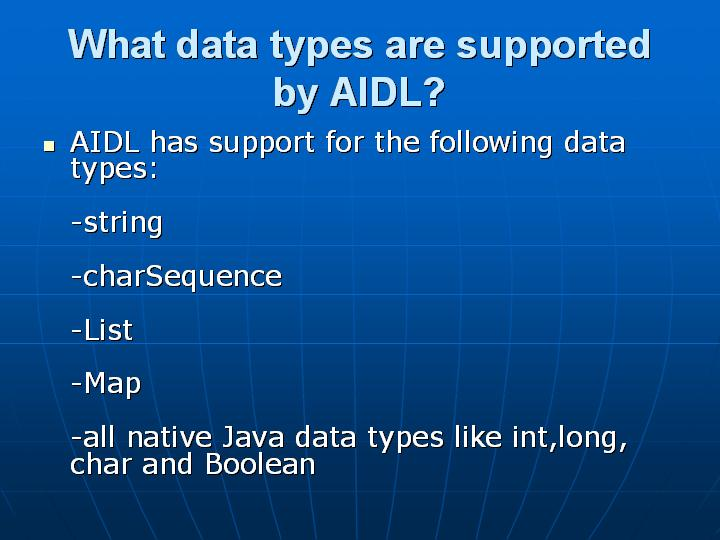 38_What data types are supported by AIDL