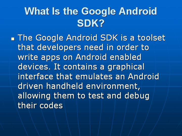 3_What Is the Google Android SDK