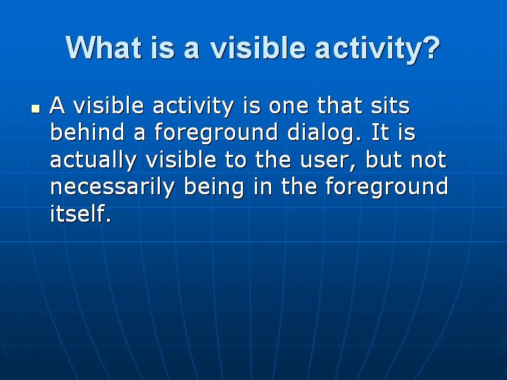40_What is a visible activity