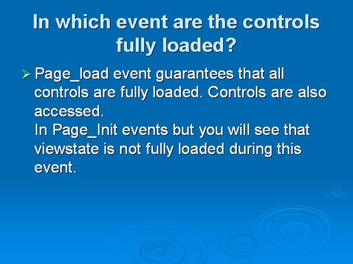 42_In which event are the controls fully loaded